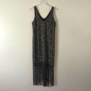 Zara Sheer 1920s Flapper Great Gatsby Fringe Dress
